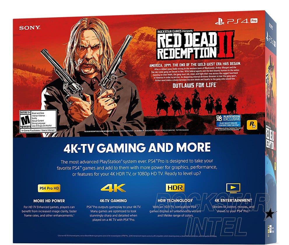 Caja de PS4 con Red Dead Redemption
