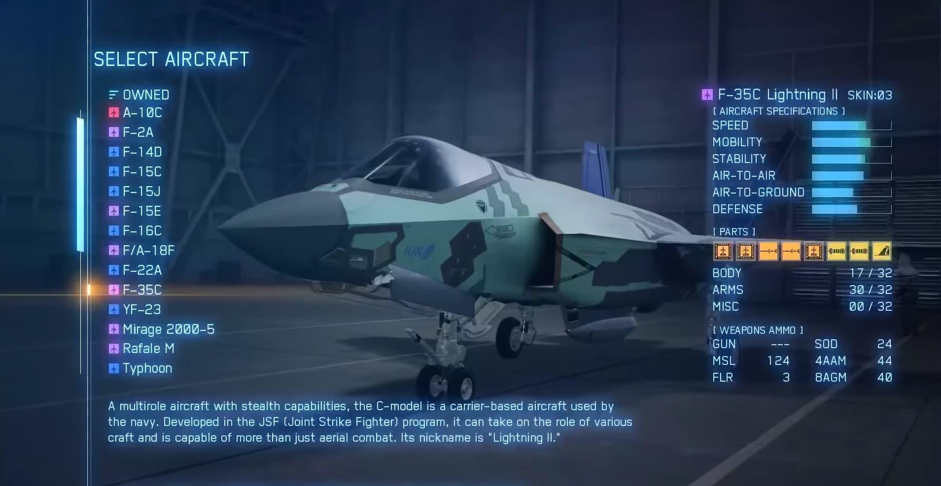 Ace Combat 7 muestra las infinitas opciones de su editor de