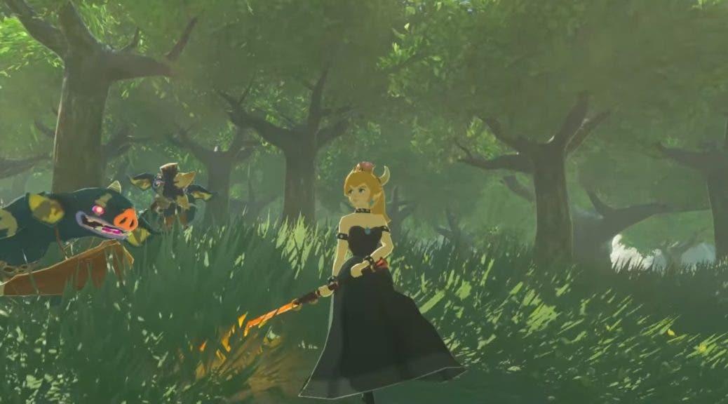 Imagen de La querida Bowsette se cuela en Zelda: Breath of the Wild
