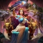 La diosa Hera desciende del Monte Olimpo para unirse a la guerra de Smite