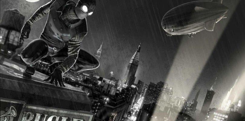 Tom Holland luce su nuevo traje negro en el set de Spider-Man: Lejos de casa