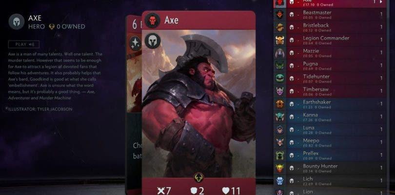 La carta de mayor precio en Artifact cuesta más dinero que el propio juego