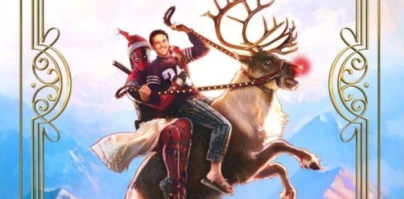 Wade se disfraza de Papá Noel en el primer póster de Once Upon a Deadpool