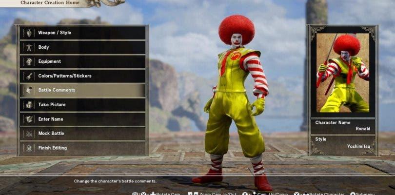 Los jugadores de SoulCalibur VI serán vetados por personajes inadecuados