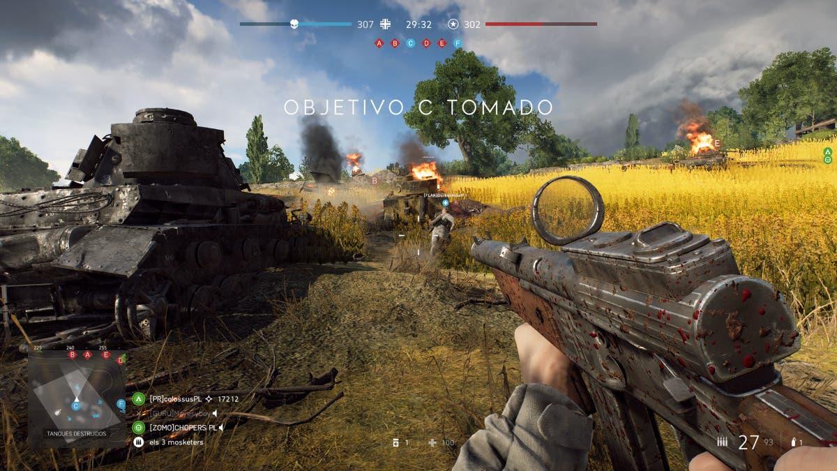 captura pantalla battlefield v