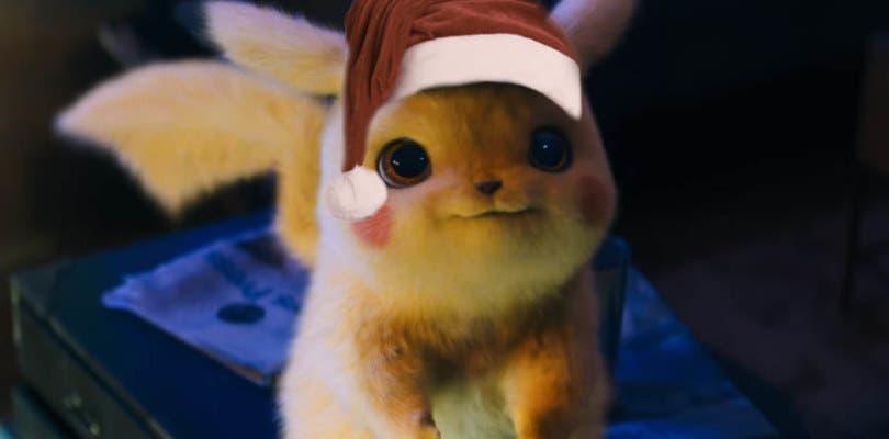 Detective Pikachu estrena tres nuevos pósteres muy navideños