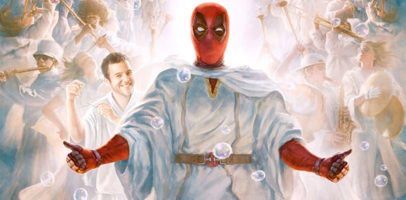 Wade desciende de los cielos en el nuevo póster de Once Upon a Deadpool