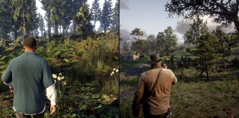 Un nuevo vídeo compara a Red Dead Redemption 2 con Grand Theft Auto V