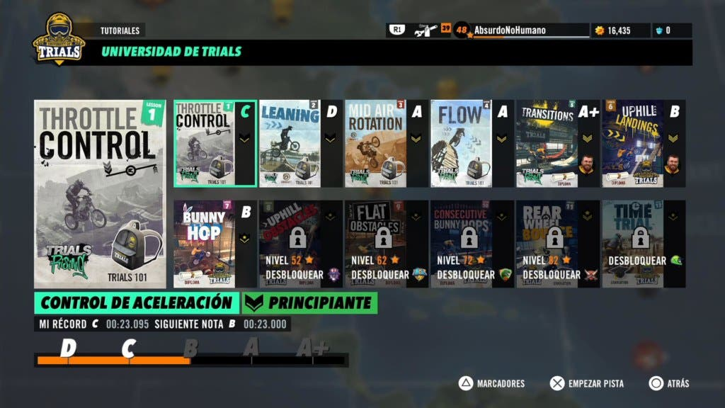 Trials Rising Tutoriales
