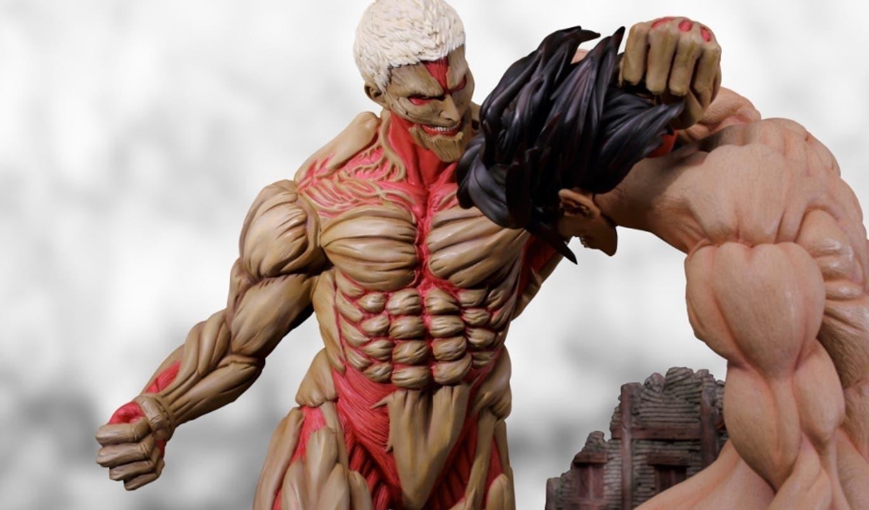 Imagen de Ataque a los Titanes: La nueva increíble figura de Eren y el Titán acorazado