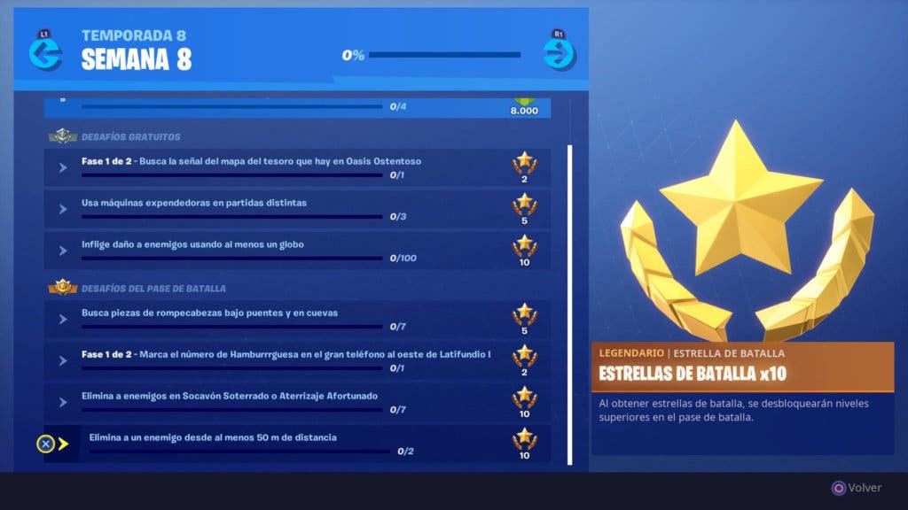 fortnite - buscar piezas de rompecabezas fortnite temporada 8