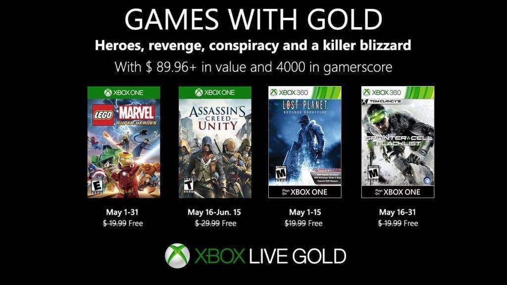 Juegos con Gold mayo 2019