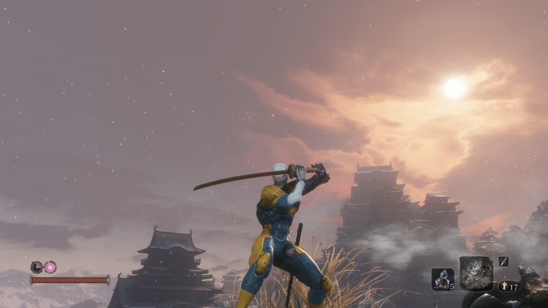 Imagen de Un mod permite jugar a Sekiro manejando a Raiden y a Gray Fox de Metal Gear