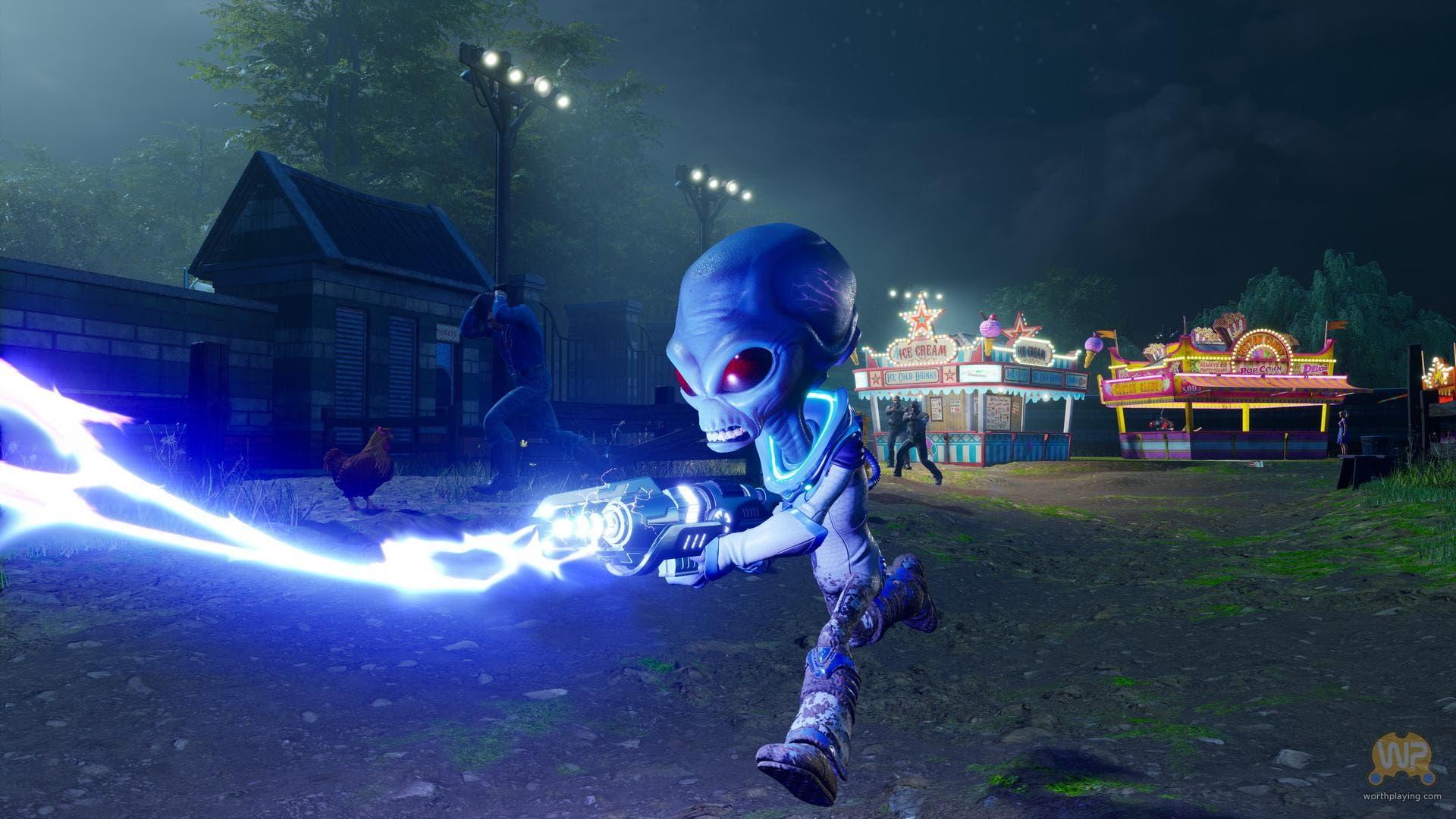 Imagen de El remake de Destroy All Humans! se muestra en un extenso gameplay
