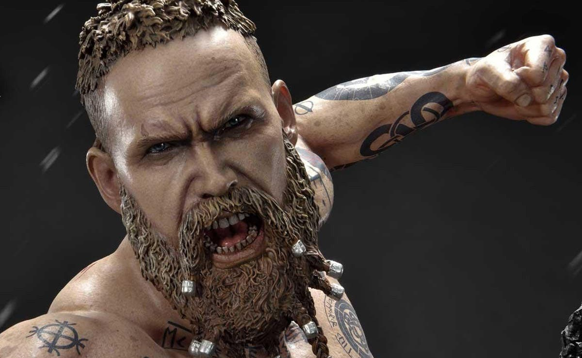 Imagen de Disponible para reserva la figura de Baldur de God of War realizada por Prime 1 Studio