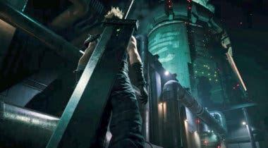 Imagen de Final Fantasy VII Remake luce un arte del edificio de Shinra