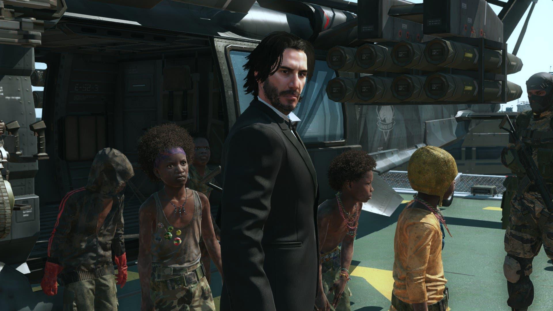 Imagen de Un mod de Metal Gear Solid V nos permite jugar como el Keanu Reeves de Cyberpunk 2077