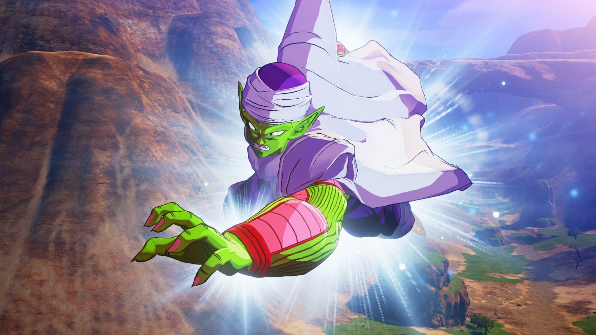 Imagen de Dragon Ball Z Kakarot luce un gameplay de Piccolo como personaje jugable