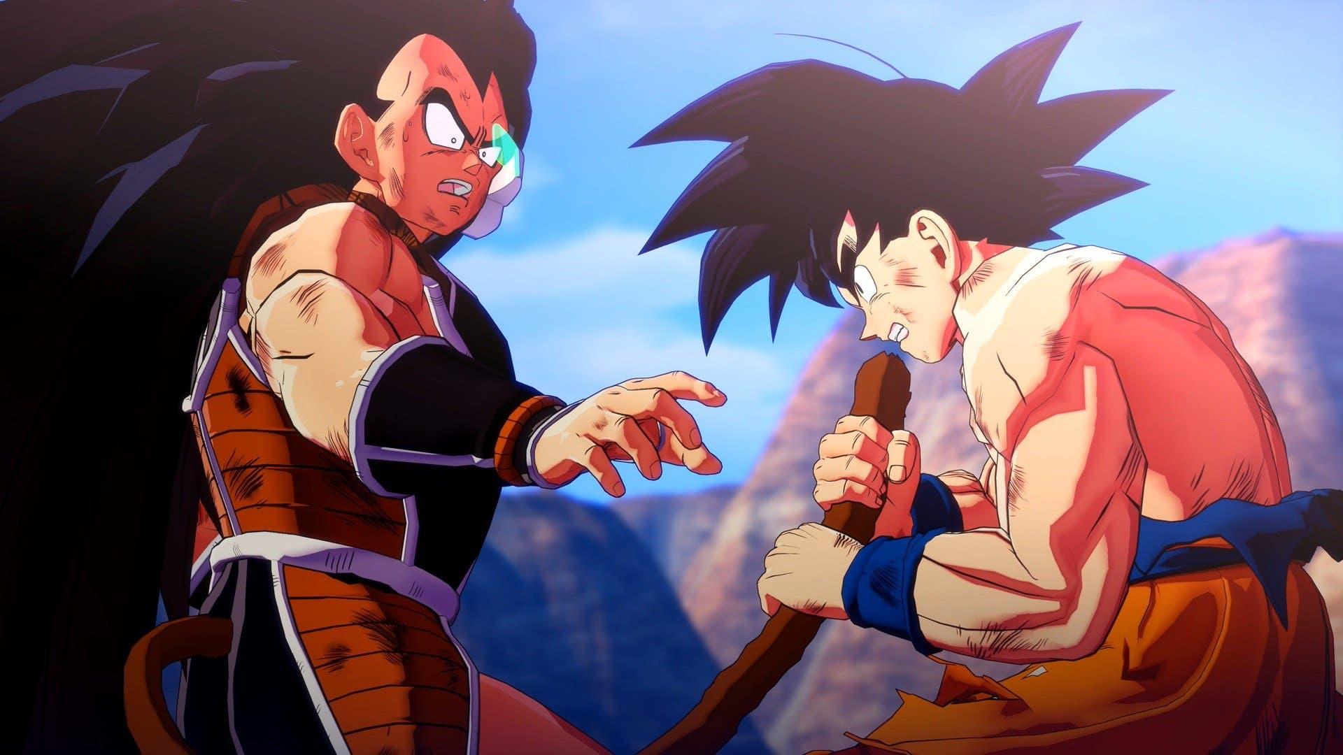 Imagen de Raditz le sirve de sparring a Goku en el nuevo gameplay de Dragon Ball Z Kakarot