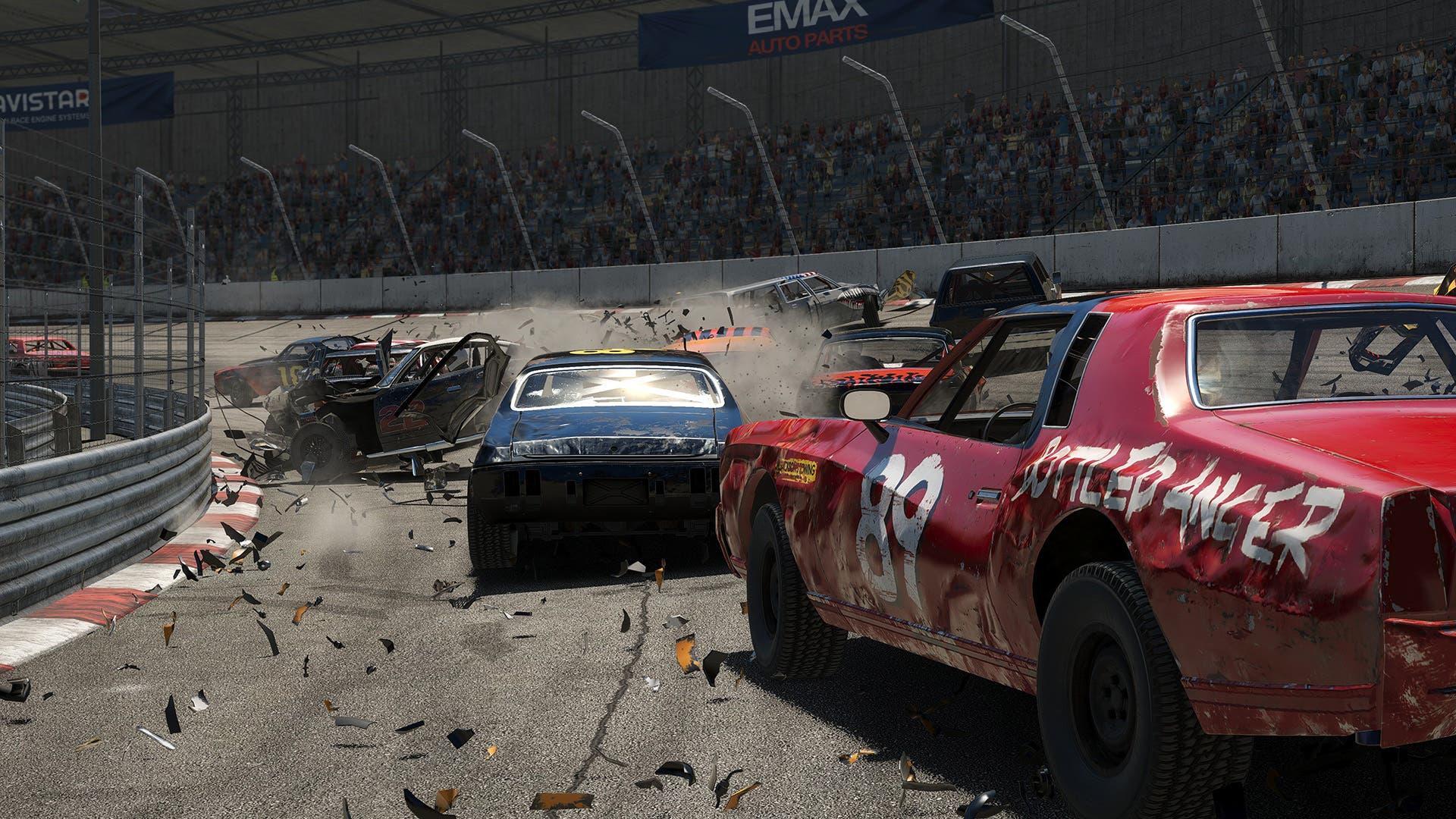 Imagen de Wreckfest lanza nuevo tráiler centrado en el piloto Lucky 99 preparando su estreno en consolas