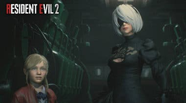 Imagen de 2B de NieR: Automata llega a Resident Evil 2 Remake gracias a un mod
