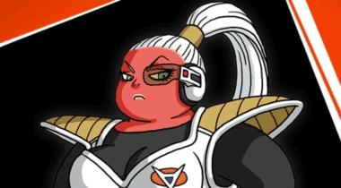 Imagen de Bonyu se muestra con su modelo in-game en Dragon Ball Z: Kakarot