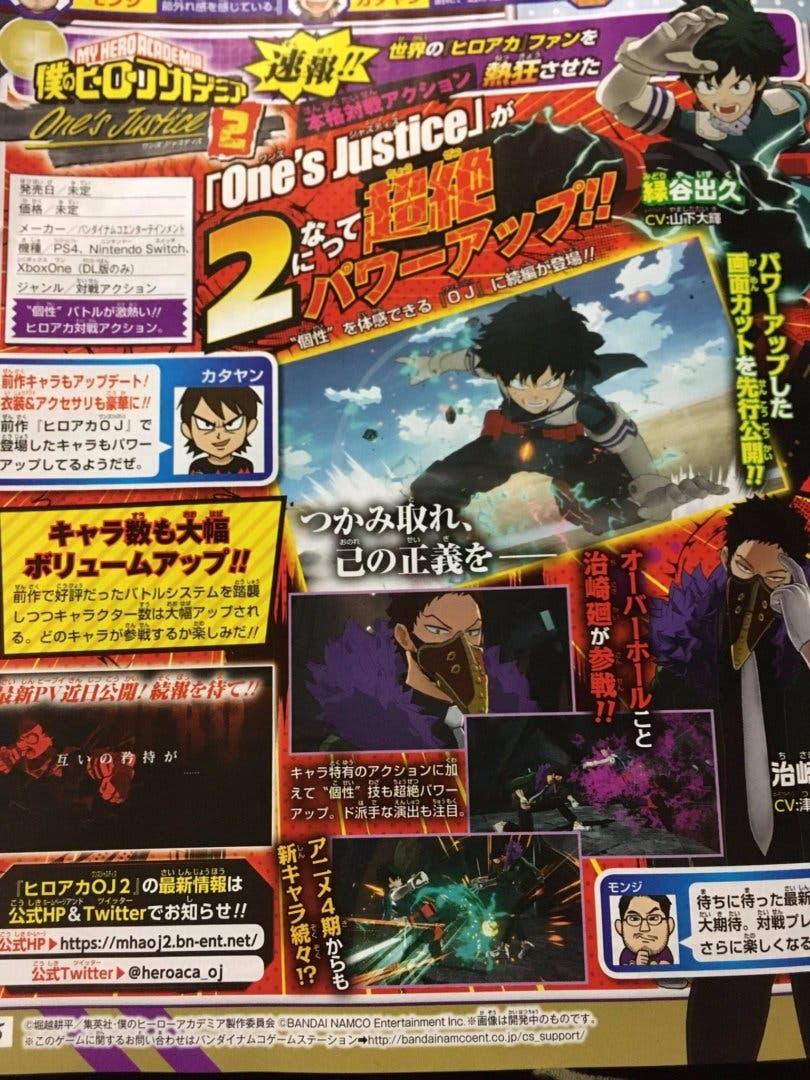 Imagen de My Hero One's Justice 2 es anunciado, e incluirá la cuarta temporada del anime