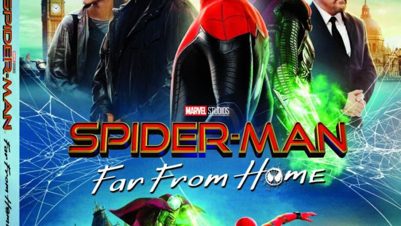 spider man far from home bluray box art