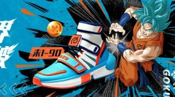 Imagen de Goku y Black protagonistas de las nuevas zapatillas de Dragon Ball