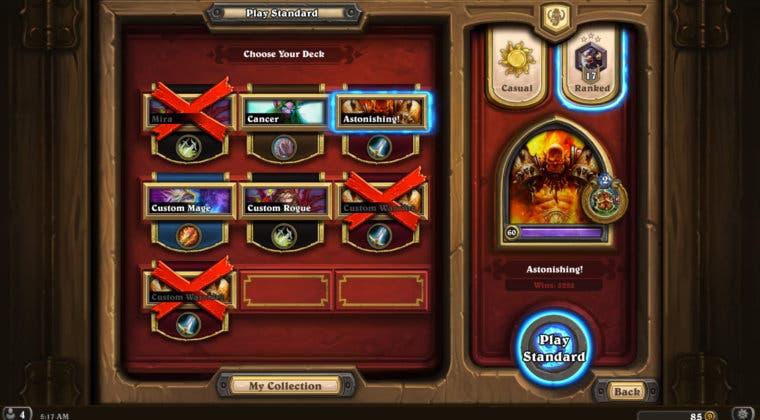 Imagen de Hearthstone añade los nuevos marcos para héroes con 1.000 victorias