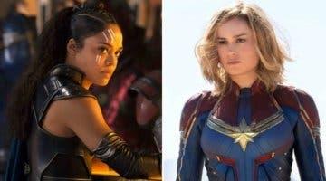 Imagen de A Tessa Thompson y Brie Larson les encantaría ver un romance entre Valquiria y Capitana Marvel