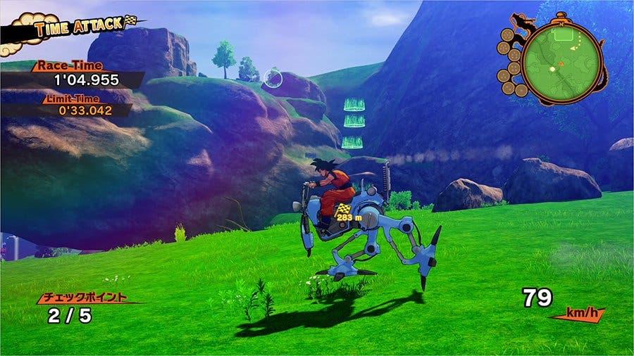 Imagen de Dragon Ball Z: Kakarot tendrá desafíos pilotando motos robóticas
