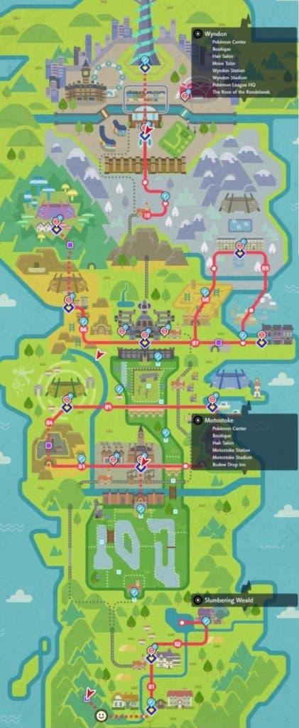 Imagen de Así es el mapa de Galar en Pokémon Espada y Escudo