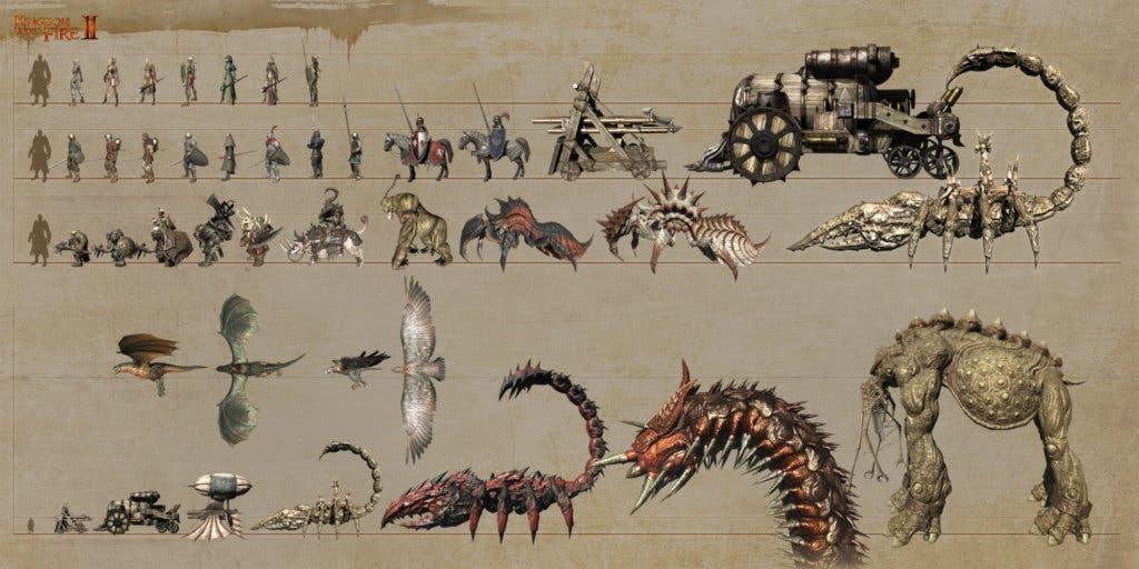 Algunas de las tropas en Kingdom Under Fire II