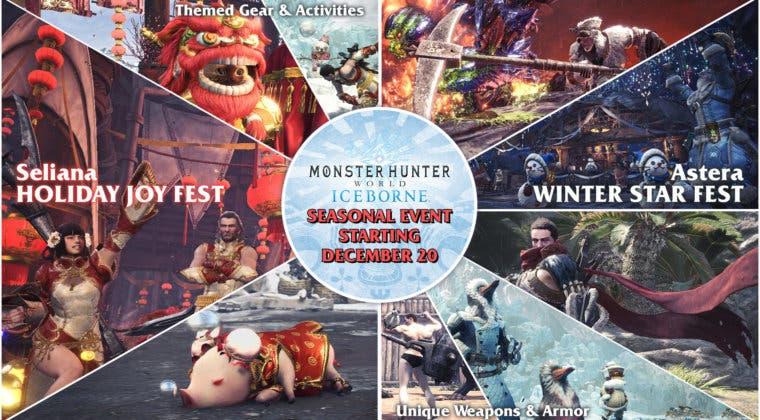 Imagen de Monster Hunter World: Iceborne recibe su actualización 12.03 y abre su evento navideño