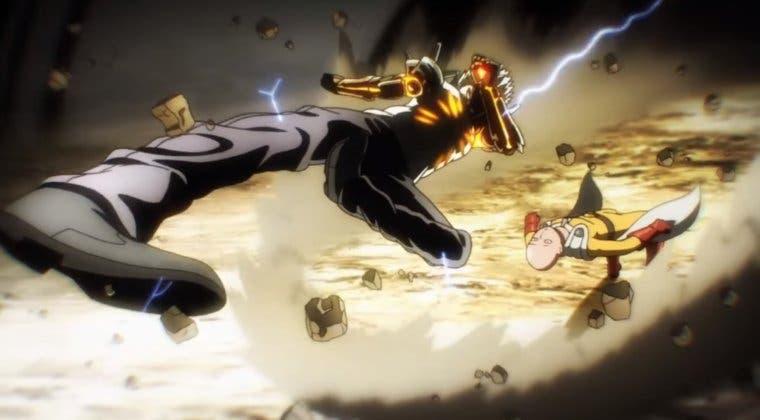 Imagen de Así es One Punch Man con el icónico 'Hero's Come Back' de Naruto Shippuden