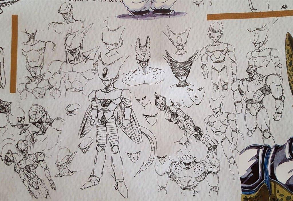 Imagen de Dragon Ball Z: Una antigua imagen rescata los diseños iniciales de Cell