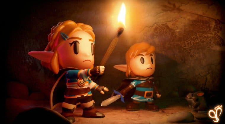 Imagen de Así se vería la secuela de The Legend of Zelda: Breath of the Wild con el estilo de Link's Awakening