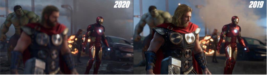 Imagen de Marvel's Avengers modifica el aspecto de algunos personajes con su último tráiler