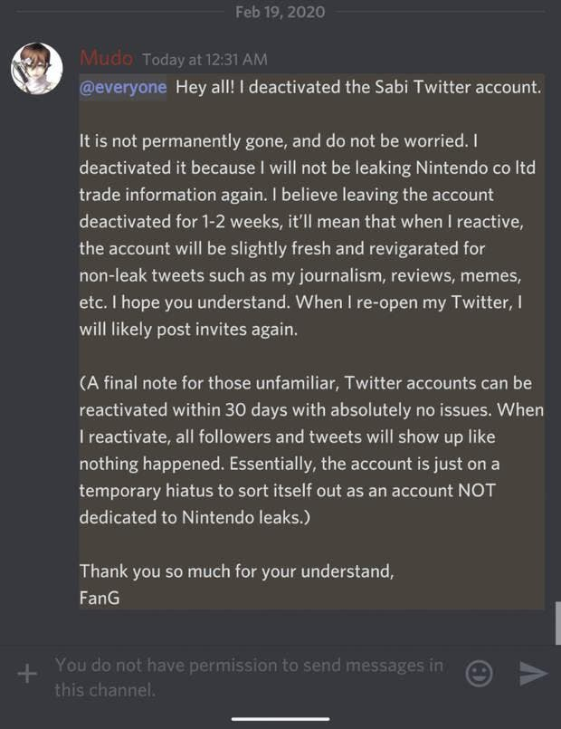 Imagen de Una conocida filtradora abandona Twitter ante la presión de Nintendo