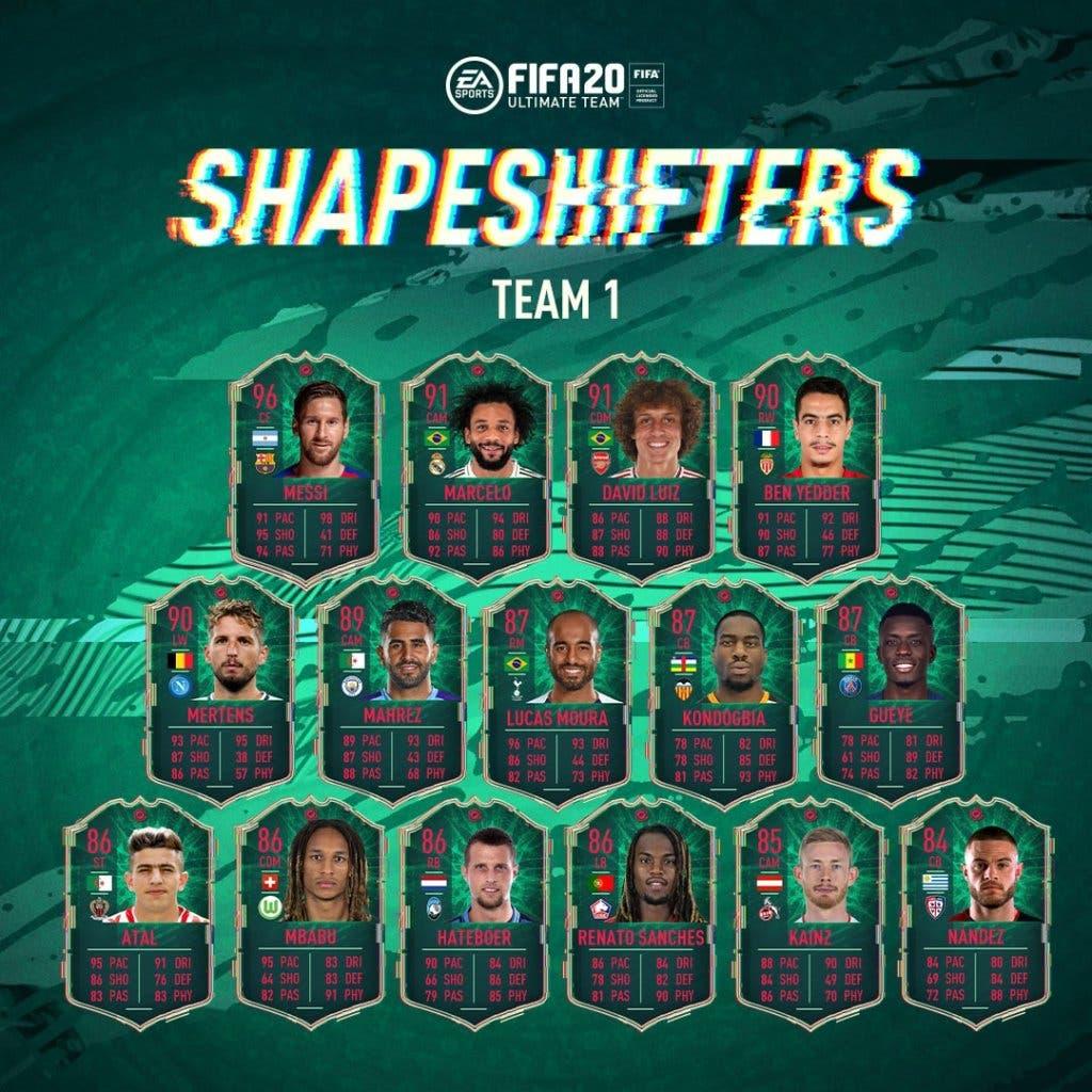 Imagen de Estos son los jugadores Shapeshifters, el nuevo evento de FIFA 20