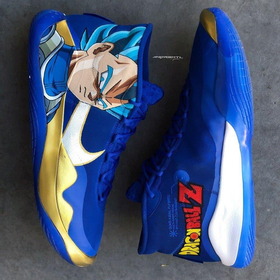Imagen de Dragon Ball Z: Las asombrosas zapatillas NBA inspiradas en Vegeta