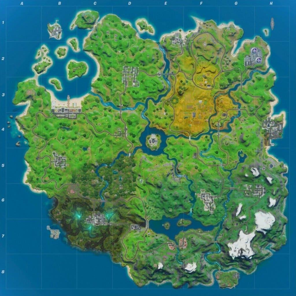 Imagen de Así es el nuevo mapa de Fortnite para la Temporada 2 del Capítulo 2