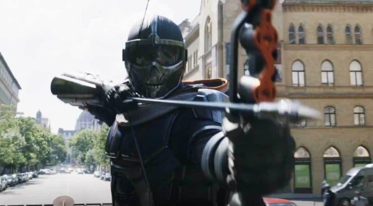 Imagen de Viuda Negra: esta imagen muestra el traje de Taskmaster con todo detalle