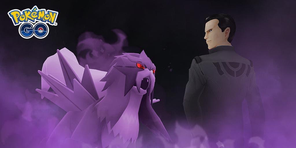 Giovanni y Entei oscuro Pokémon GO