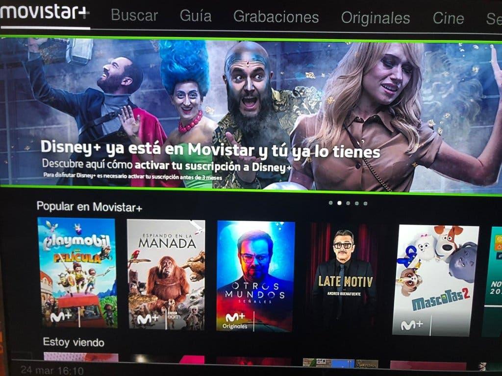 Imagen de Así puedes activar Disney Plus en Movistar desde el descodificador