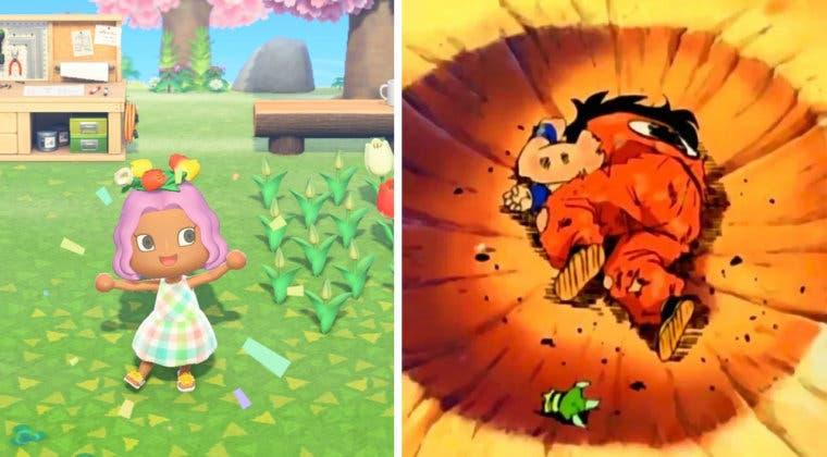 Imagen de Recrean la icónica pose de Yamcha al morir en Animal Crossing: New Horizons