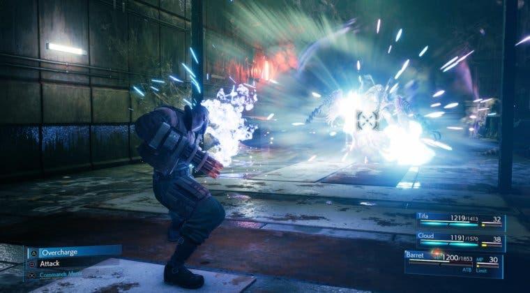 Imagen de Final Fantasy VII Remake detalla las habilidades de Barret, la Gramola y más