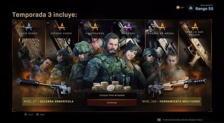 Imagen de Todas las nuevas armas que llegan a Warzone en el pase de batalla de la tercera temporada