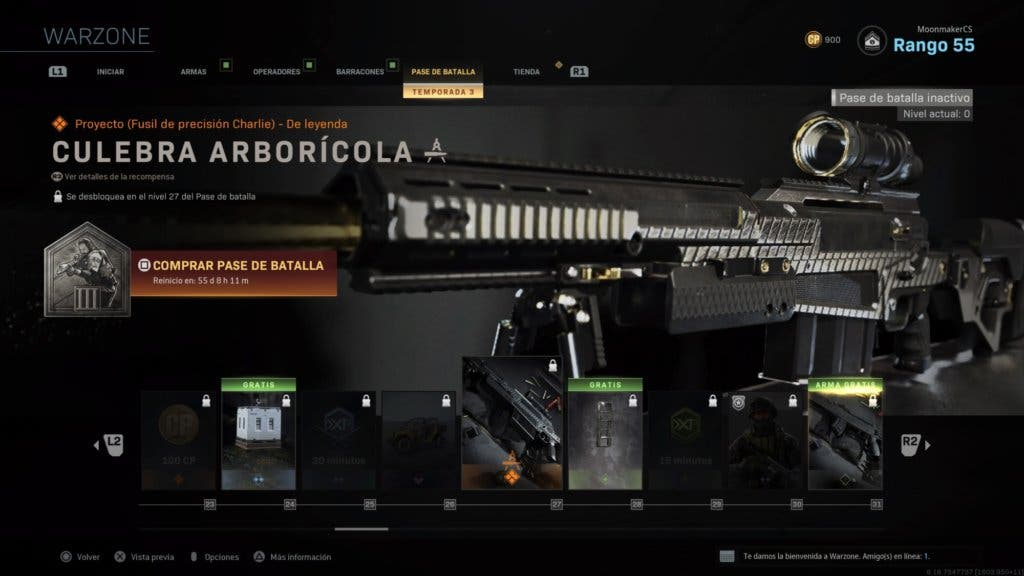 Culebra arborícola - Warzone